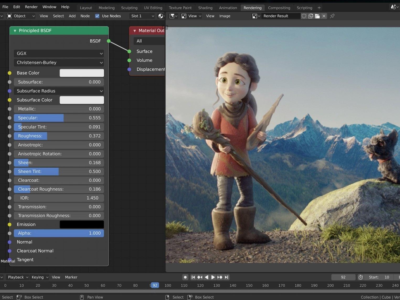Imagem do editor de vídeos gratuito Blender