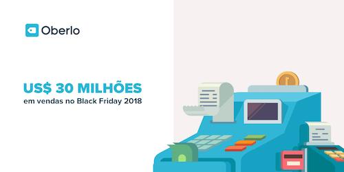 Lojistas do Oberlo lucraram mais de 30 milhões no Black Friday 2018