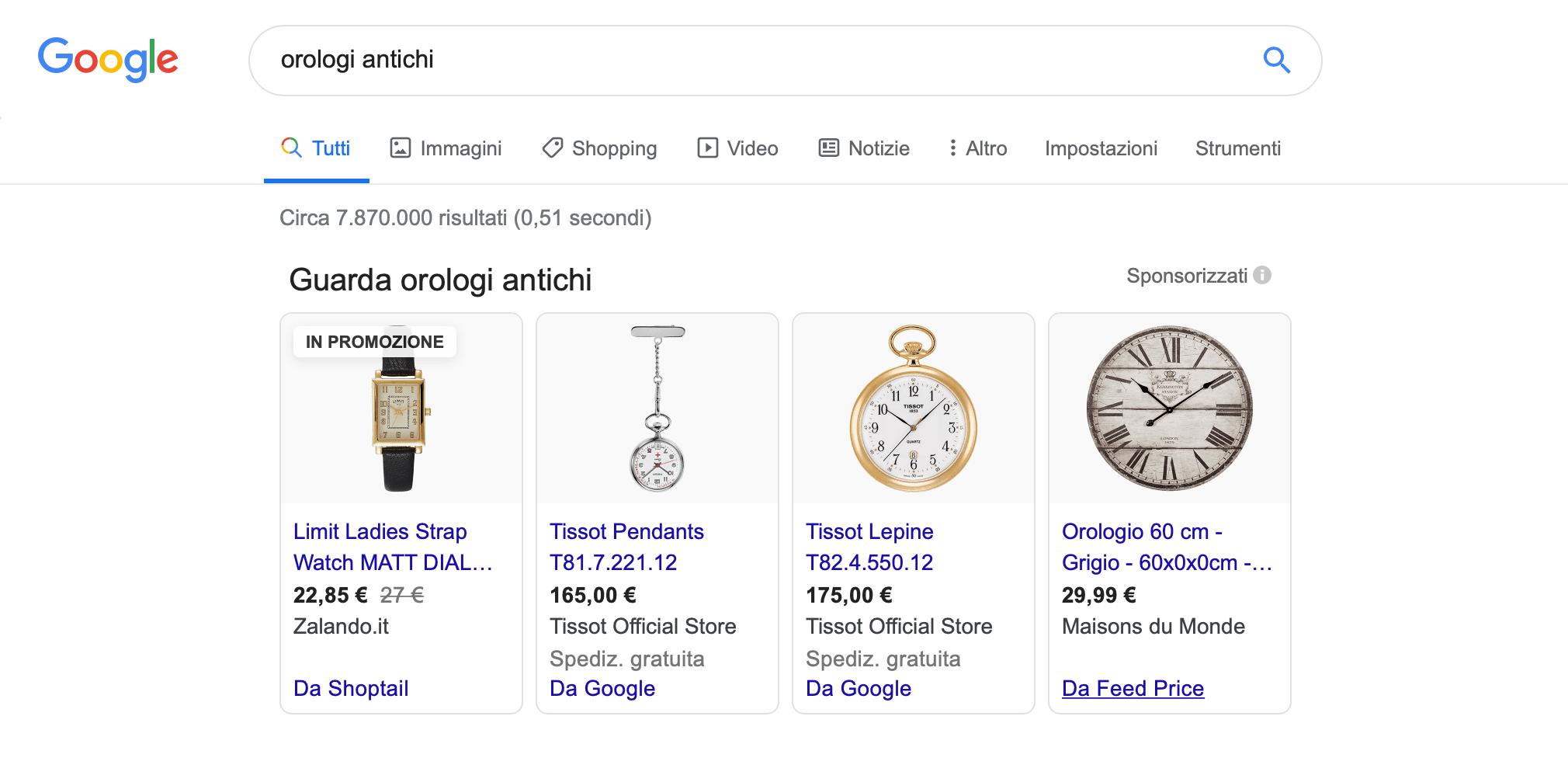 google my business orologi