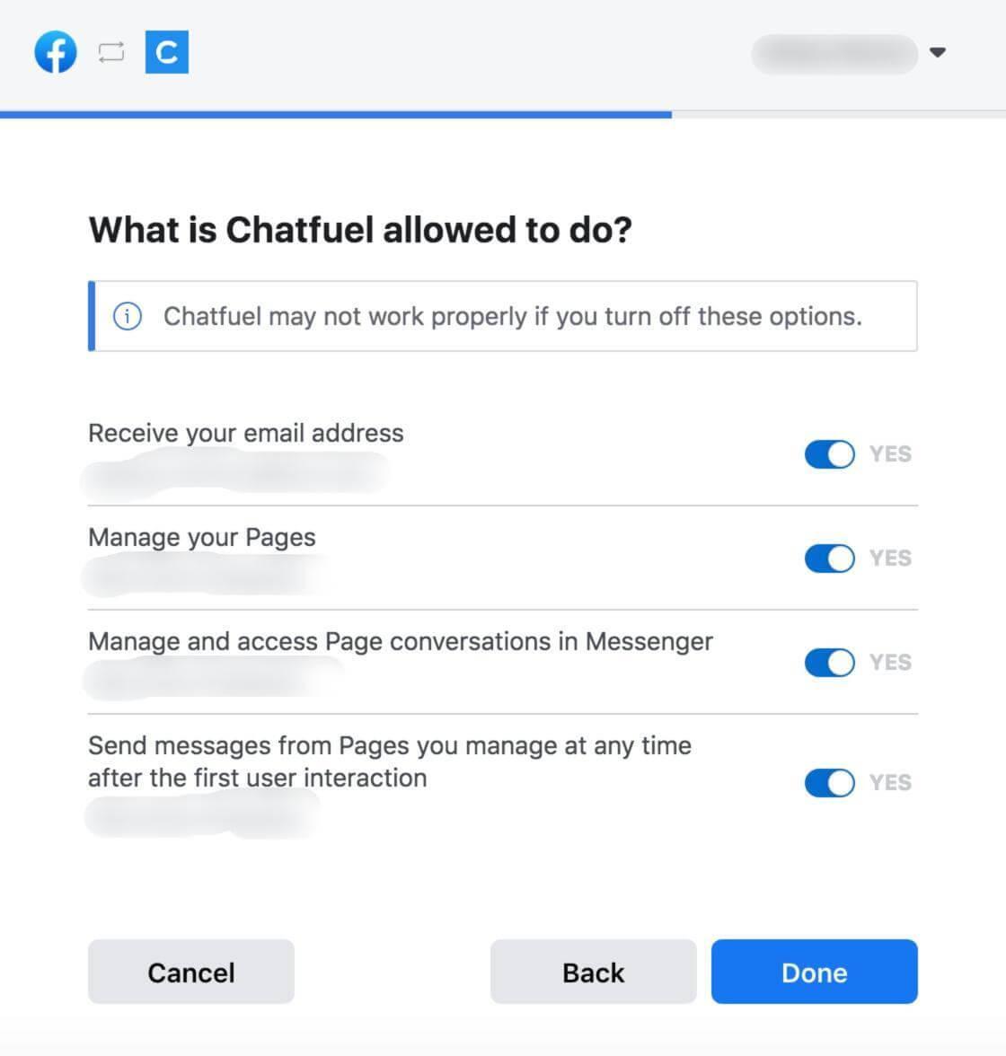chatfuel set up guide
