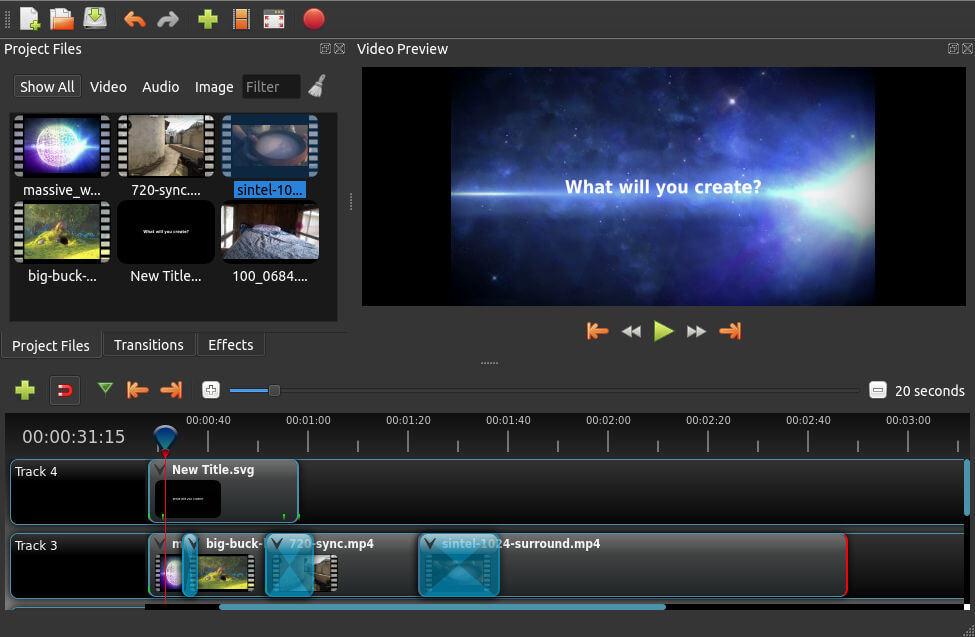 Openshot logiciels de montage vidéo gratuits