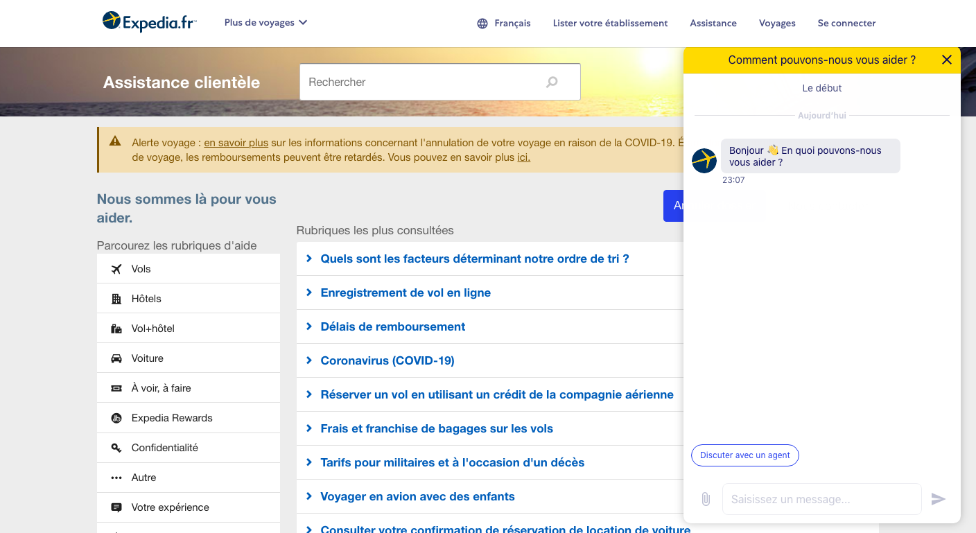 Live chat exemple