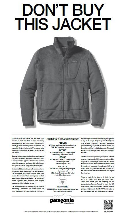 publicité Patagonia