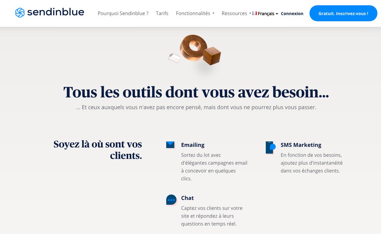 Logiciel emailing français Send in blue