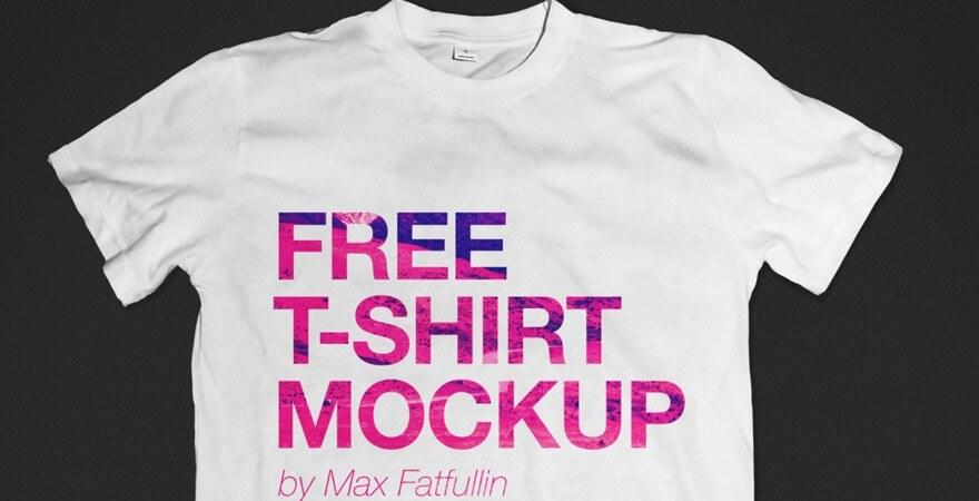 maquette de T-shirt publicitaire