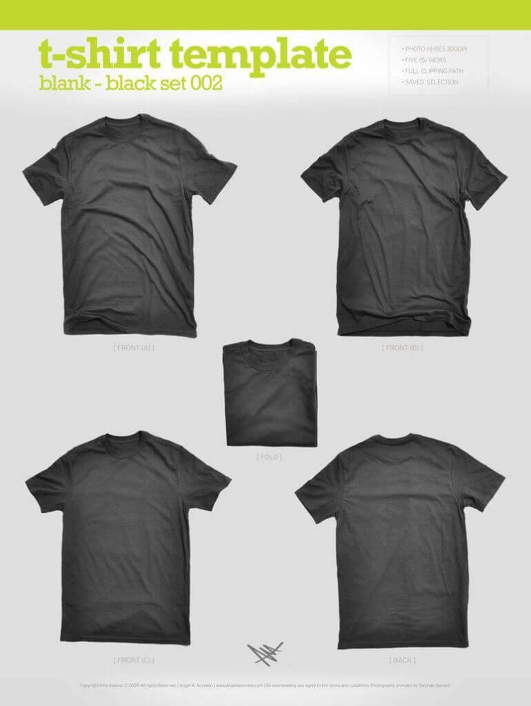 modèle T-shirt personnalisé noir