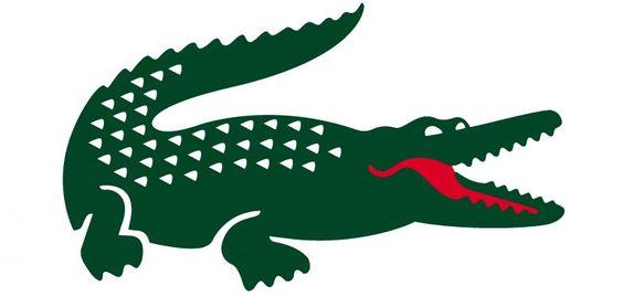 combinaison de couleurs vert et rouge logo lacoste