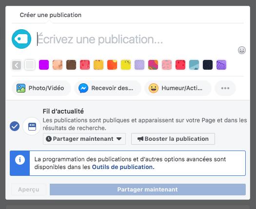 créer une publication