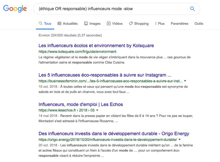 Recherche avec les opérateurs Google