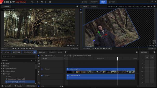 Hitfilm mejor programa para editar videos gratis