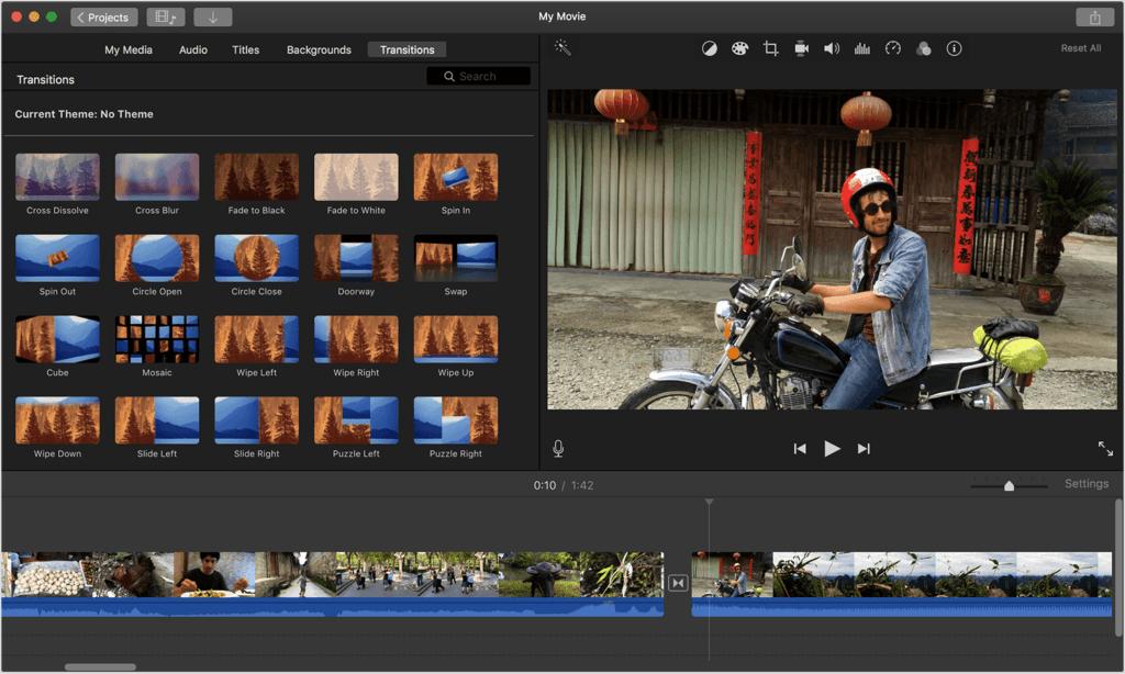 imovie editories de video para Mac