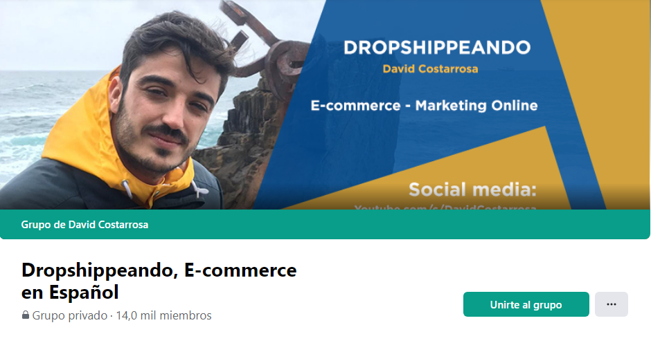 Grupo de Facebook dedicado al dropshipping