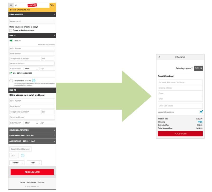 Staples - Optimización de formularios para una mejor usabilidad web móvil