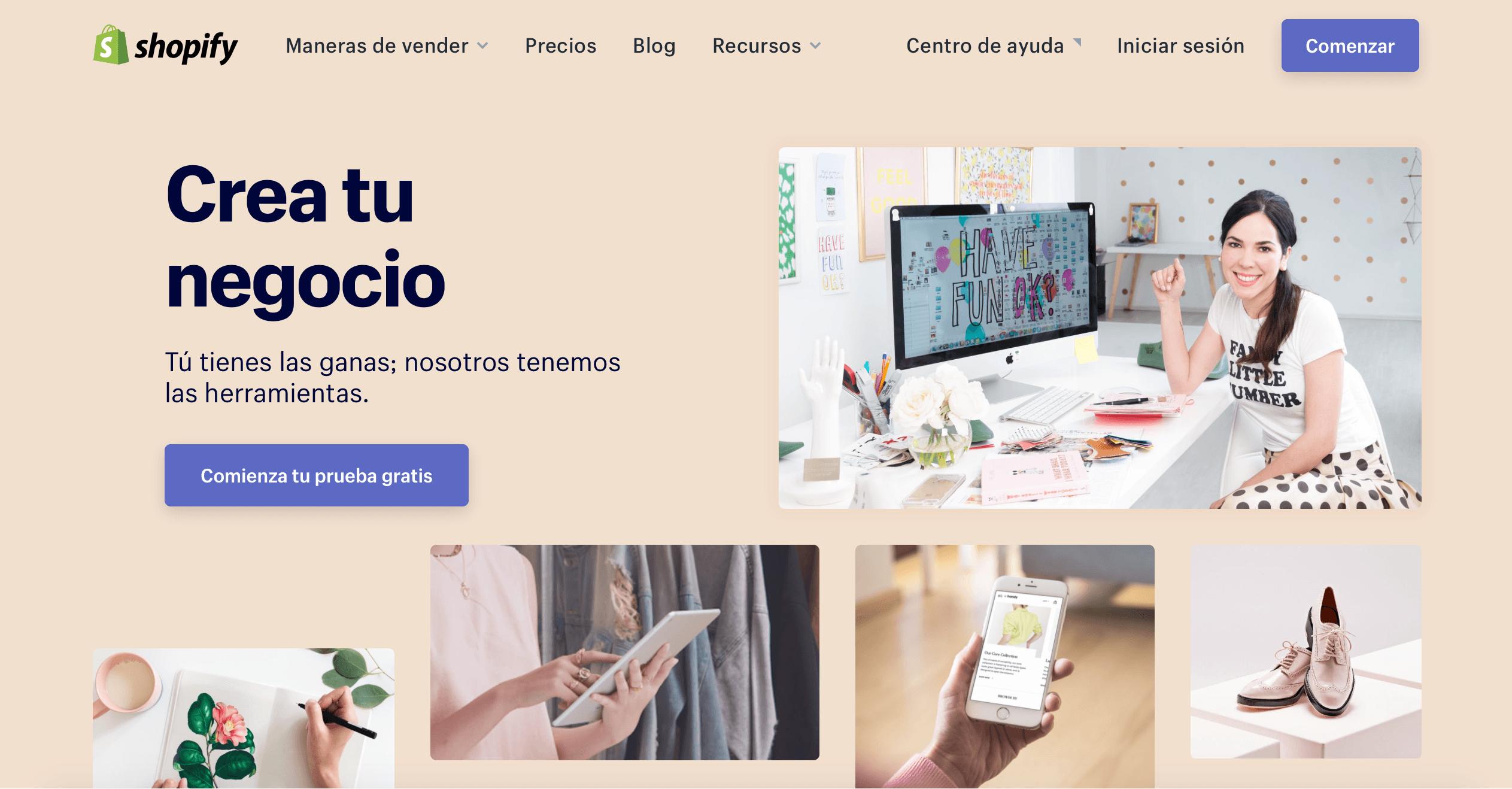 hacer pagina web con shopify para ecommerce