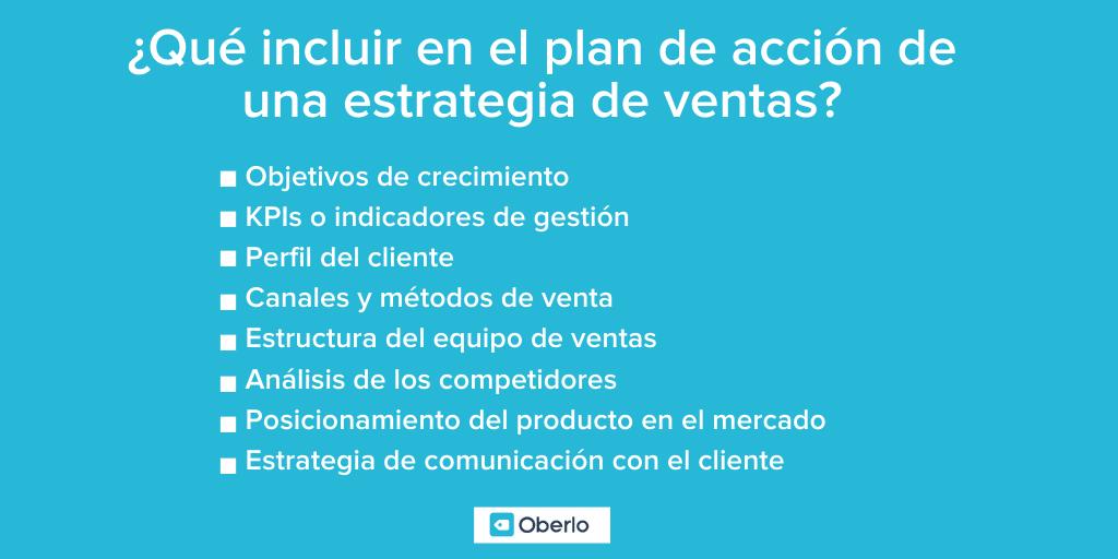 Plan de acción - Estrategia de ventas