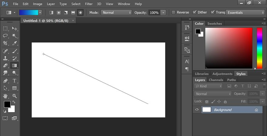 how to use gradient tool