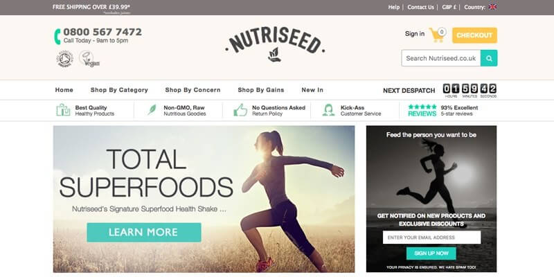 Nutriseed Shopify Store