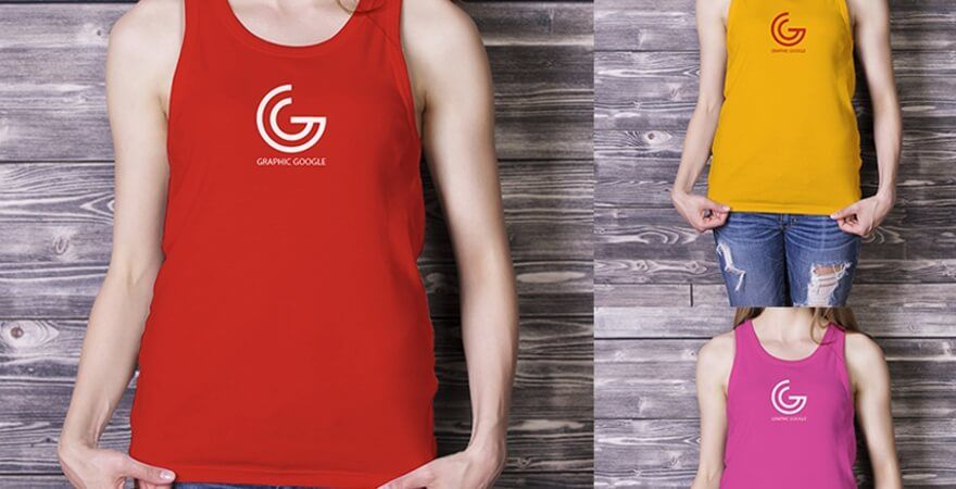 Free Tank Top Mockup - Graphic Google