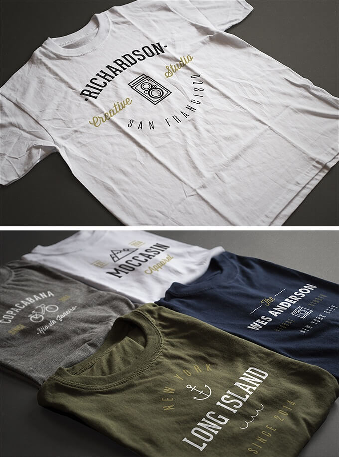 Free T-Shirt Template-Antonio Padilla's Photorealistic T-shirt templates