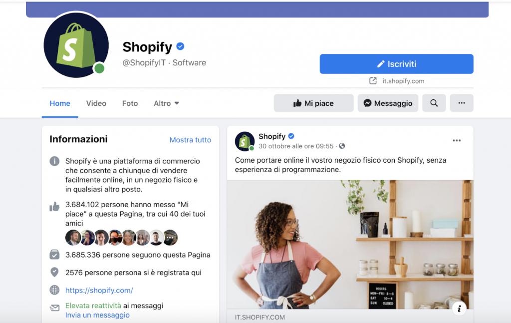 pagina Shopify