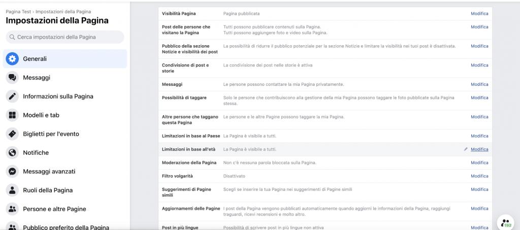 come creare una pagina facebook aziendale