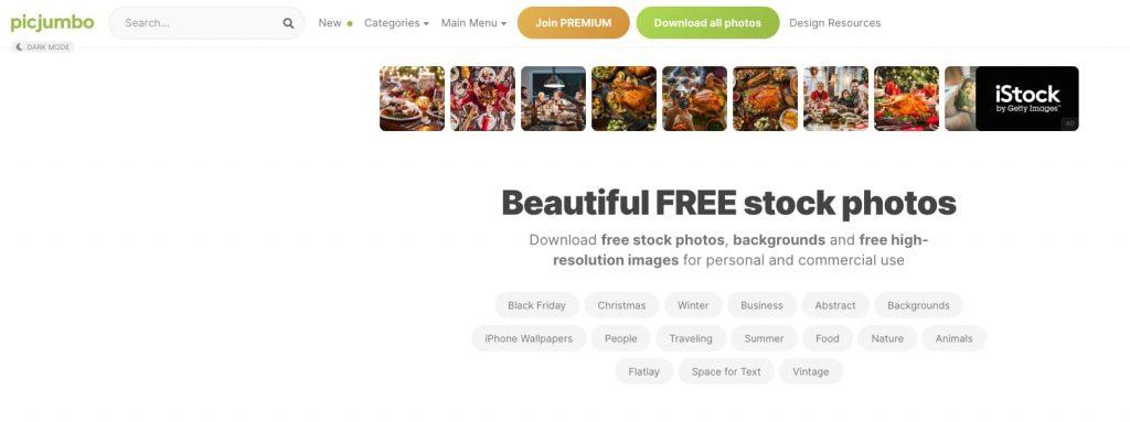 picjumbo siti immagini gratis