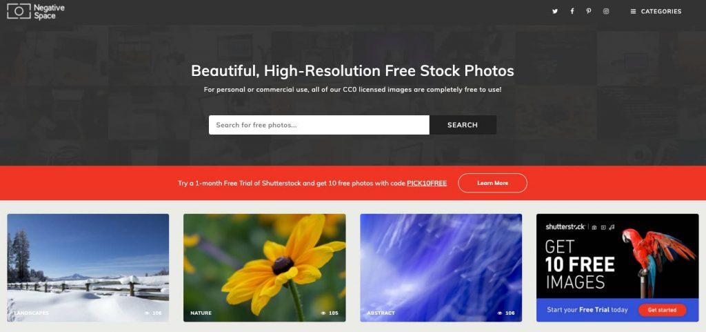 negative space scaricare immagini gratis