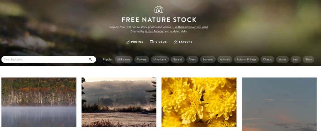 free nature stock siti per immagini alta risoluzione gratis