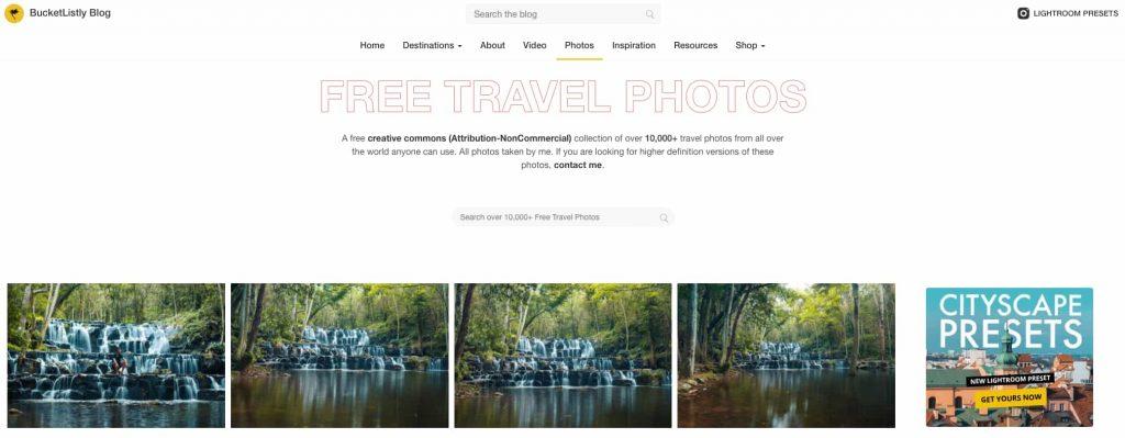 bucketlistly immagini viaggi gratis