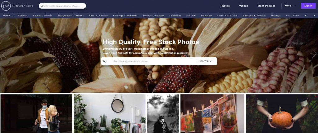pikwizard siti per immagini gratis