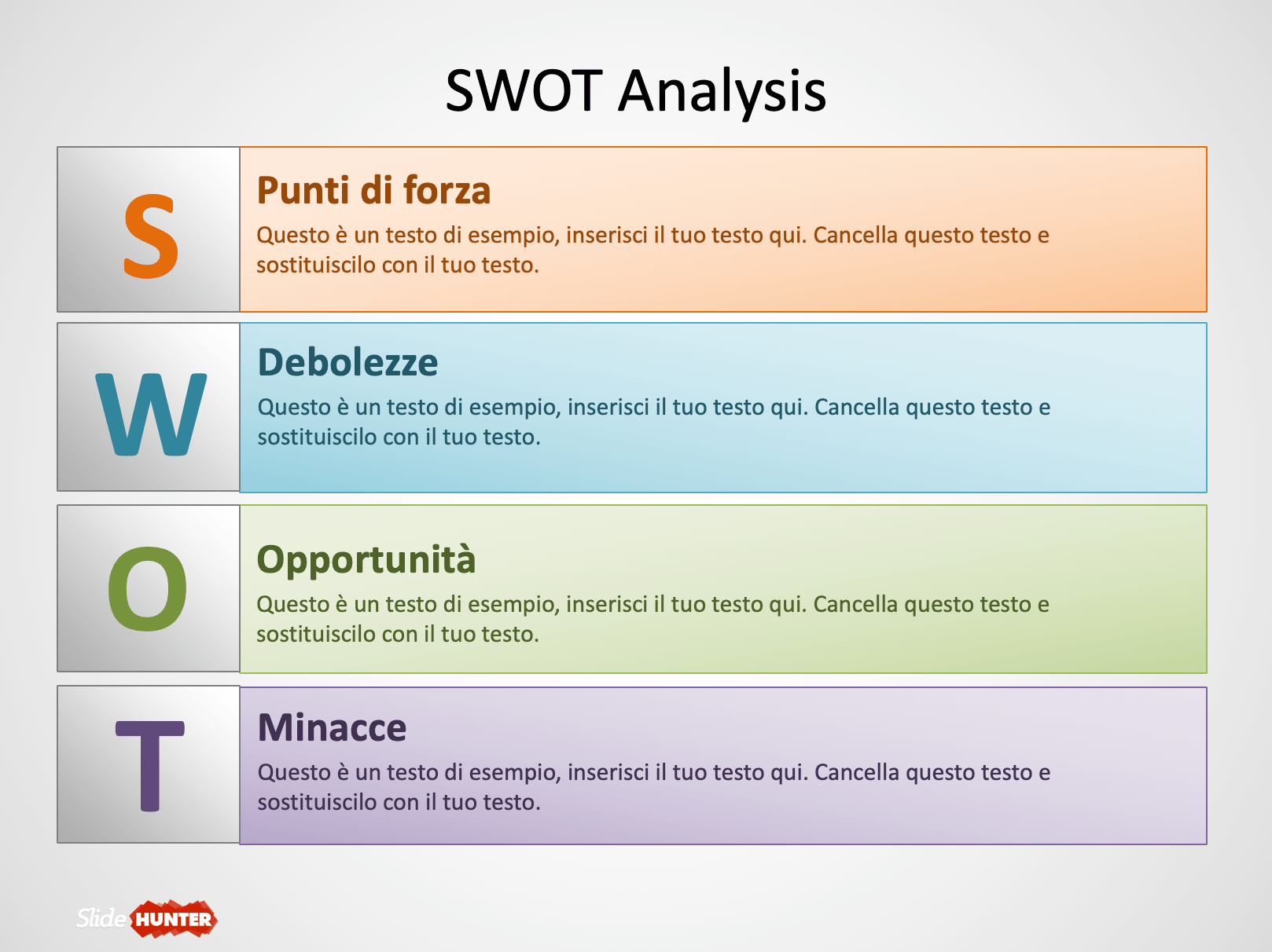 swot analysis verticale