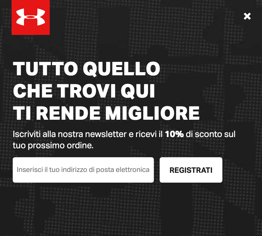 lead generation under armour
