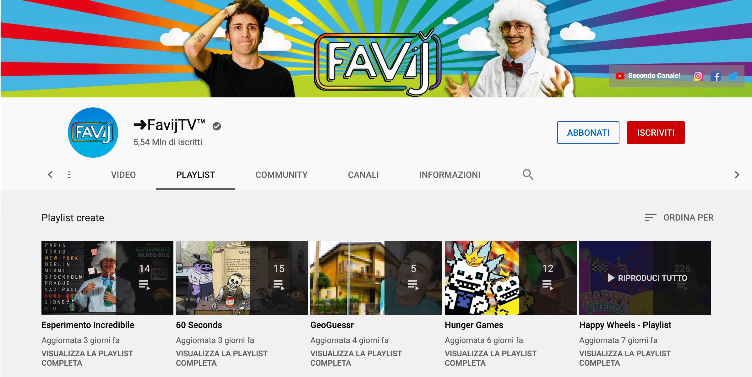 visualizzazioni youtube playlist