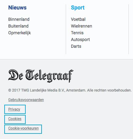 GDPR Telegraaf