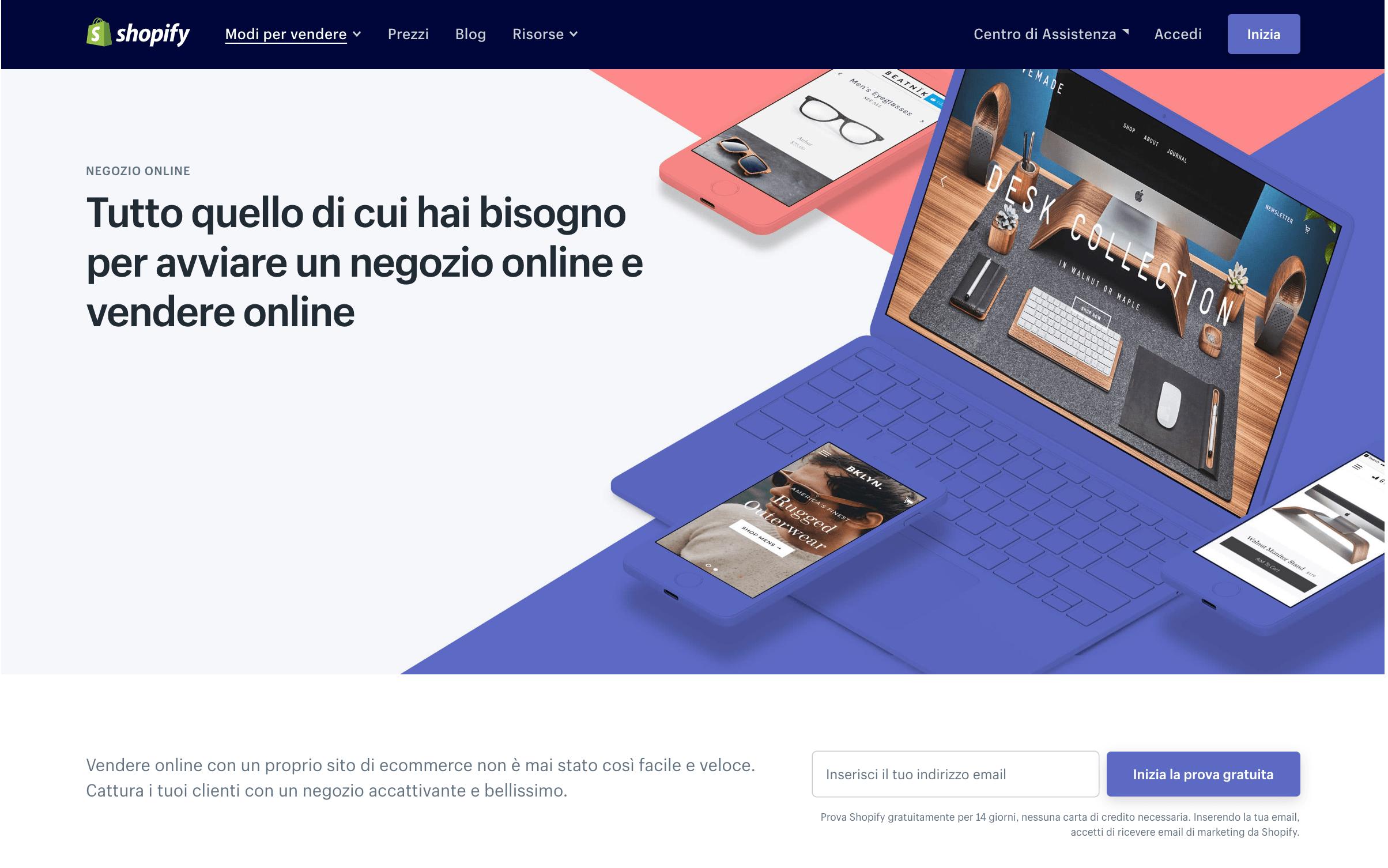 siti per vendere online shopify
