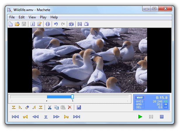 Machete software gratuito di video editing