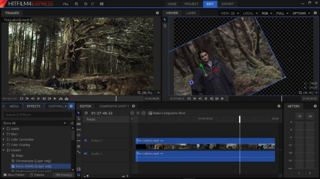 Hitfilm software gratuito di video editing