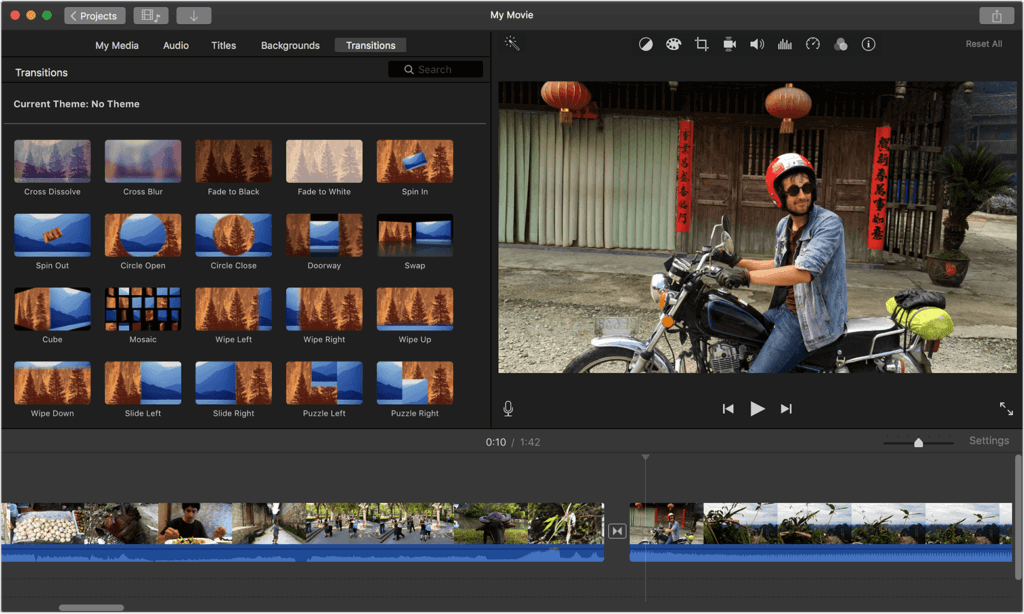 iMovie software gratuito di video editing