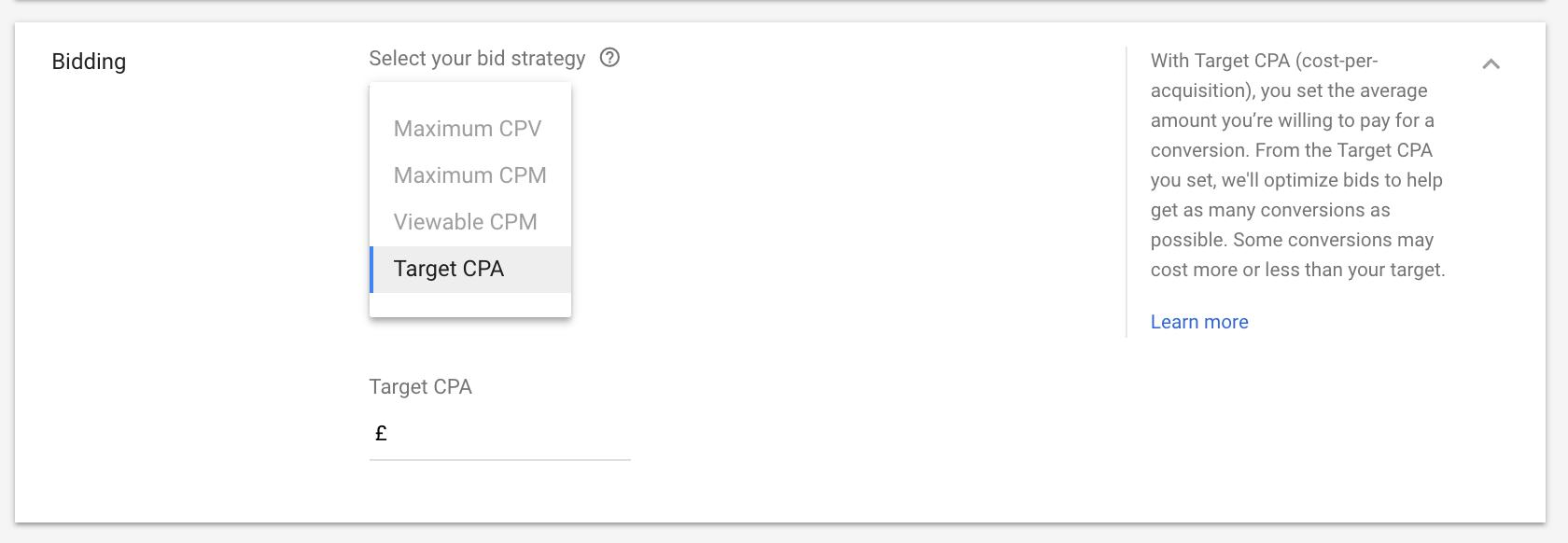 YouTube Ads stratégie de paiement