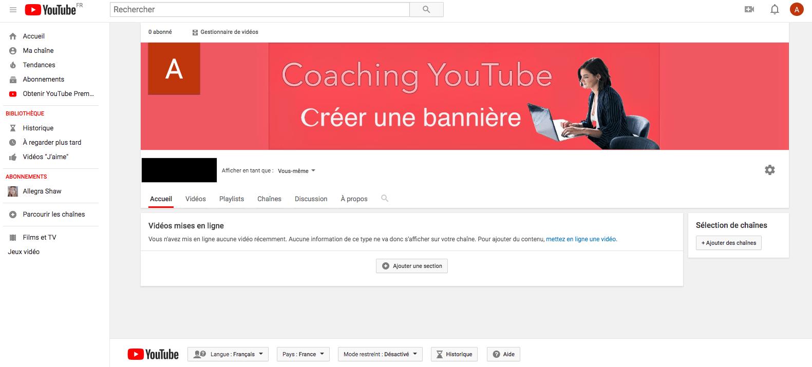Créer une couverture YouTube