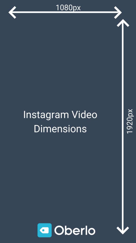 dimensions vidéo instagram