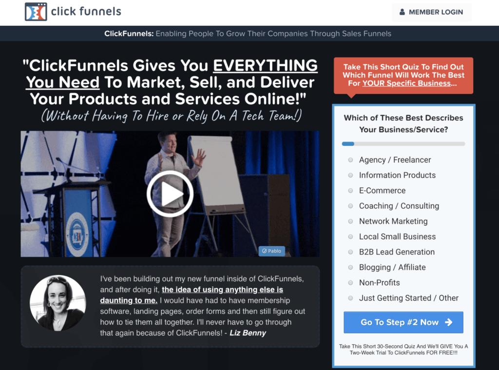 Create a Website ClickFunnels