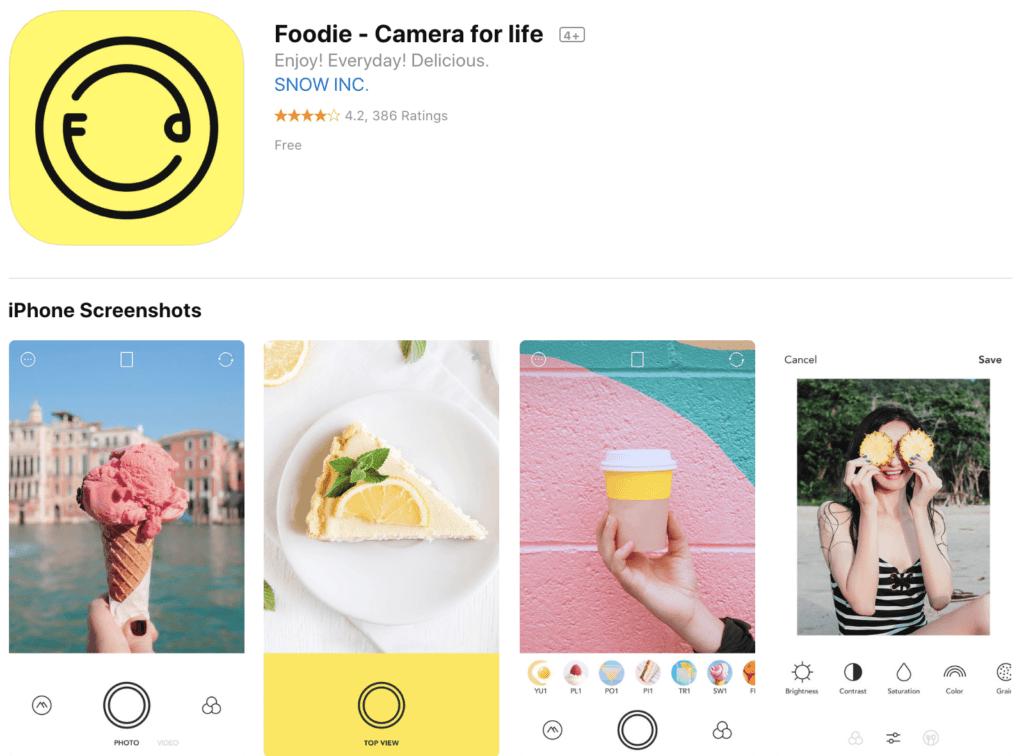 aplicacion para editar fotos foodie