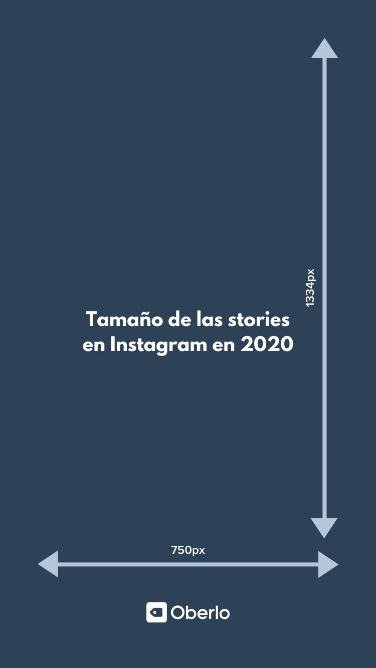 tamaño stories instagram 2020