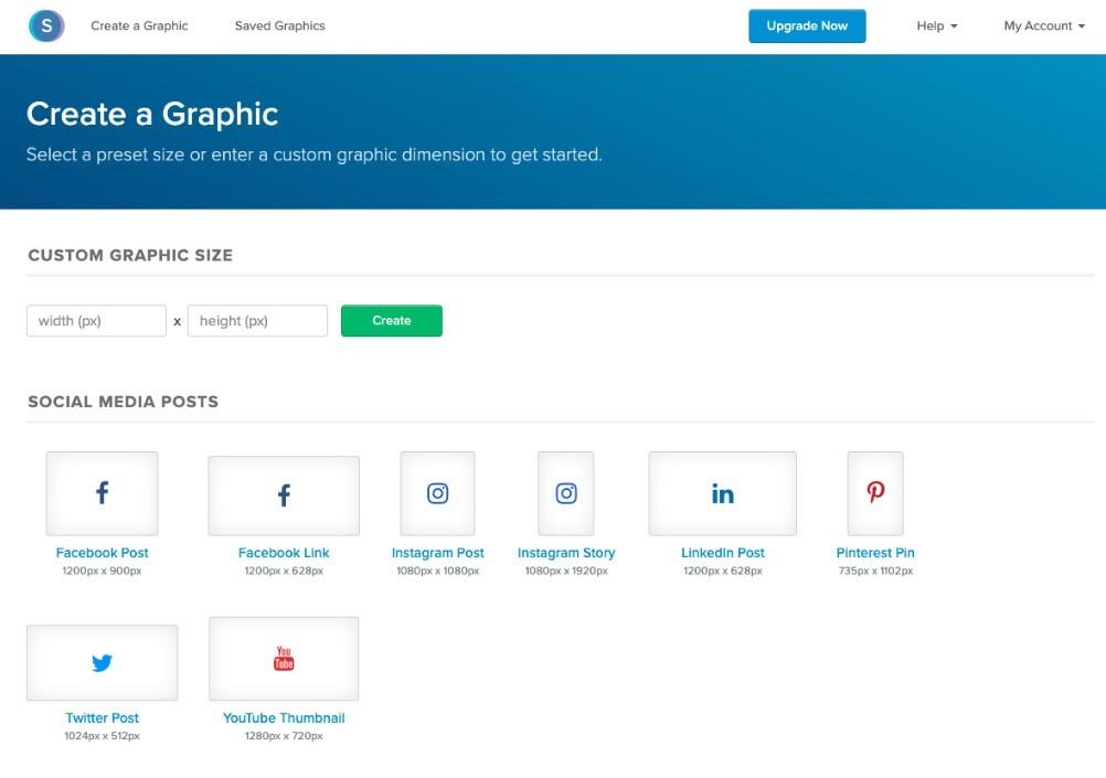 Snappa - Una buena opción entre los programas de diseño gráfico que se presentan como alternativa de Canva