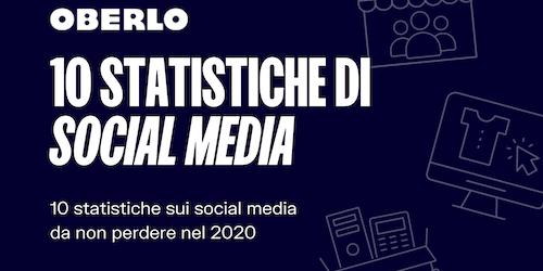 10 statistiche sui social media per il 2020