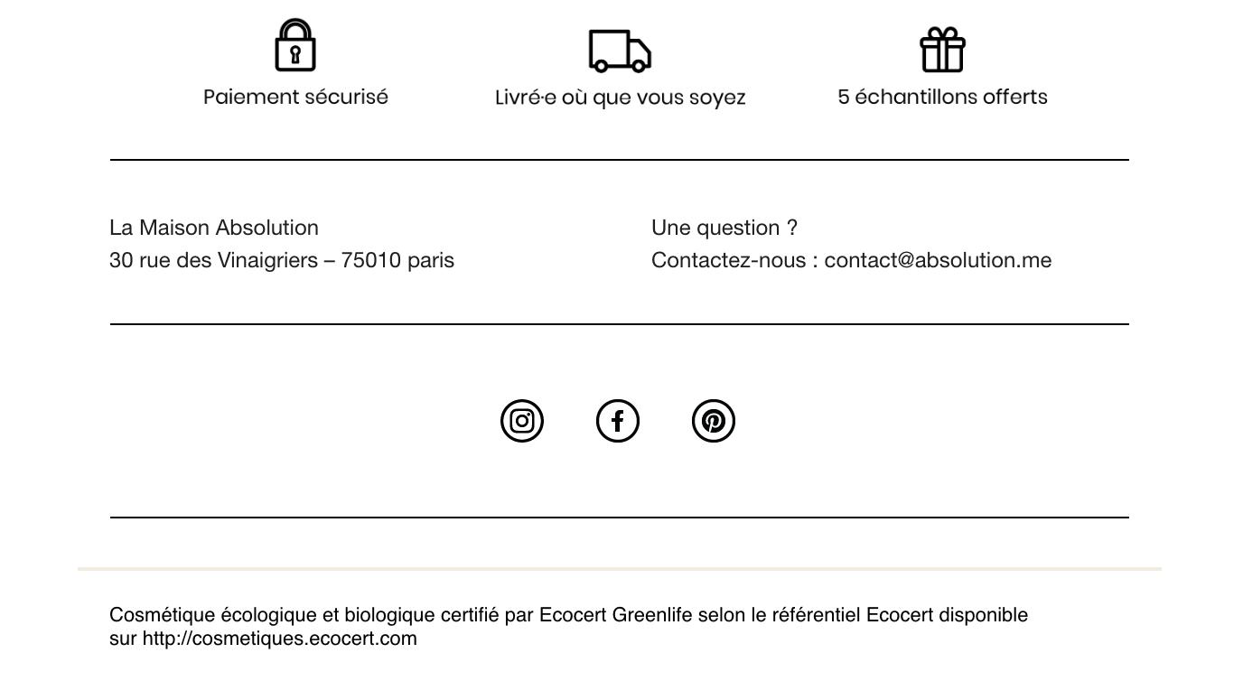 Icônes réseaux sociaux dans Newslet