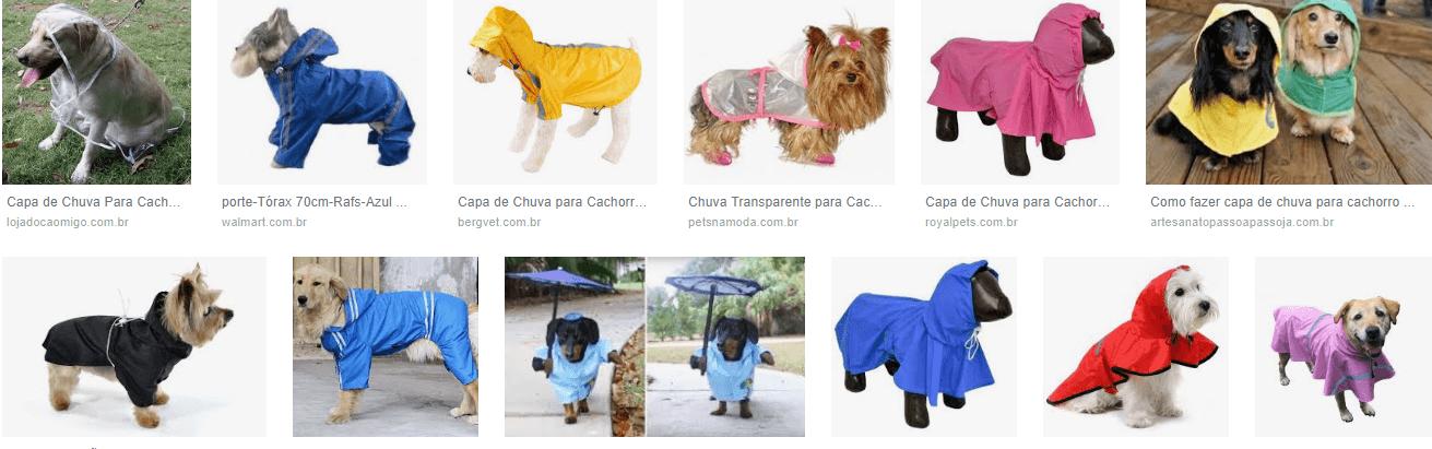 Capas de chuva para cachorros