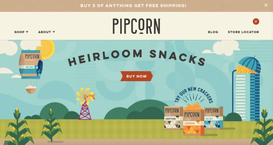 loja de sucesso: pipcorn