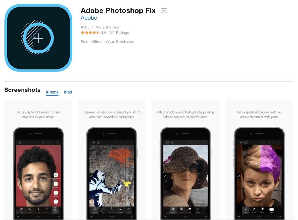 Adobe Photoshop Fix App